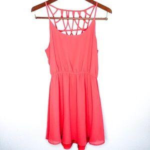 Anthropologie Lost April Red Dress